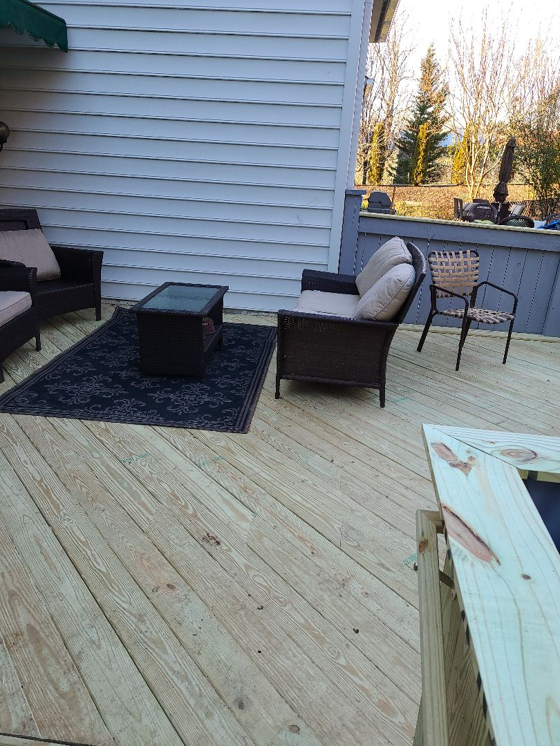 DECK RESURFACE JOB COMPLETED ALEXANDRIA VA