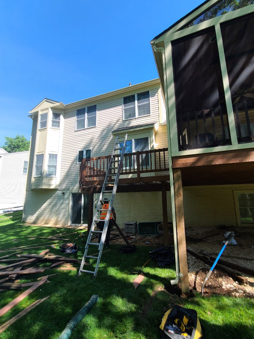 Alexandria, VA - TREX DECK RESURFACE IN CLIFTON VA; FAIRFAX COUNTY VA