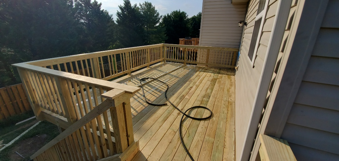 New deck install in Bristow, VA  VANQUISH HOME SERVICES 571-200-9628