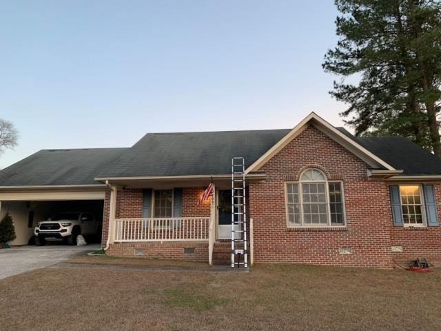 Fayetteville, NC - ATD Restoration Inspects Storm Related Damage in Fayetteville. Happy to report we helped our customer secure a full roof replacement!