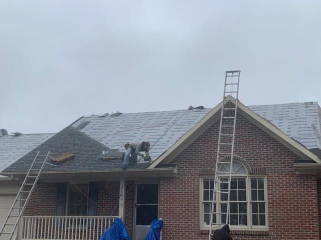 Fayetteville, NC - ATD Restoration installing GAF Timberline HD Pewter Grey shingles!