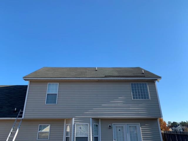 Fayetteville, NC - ATD Restoration inspecting wind damage in Fayetteville, NC.