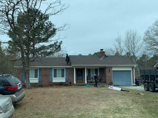 Fayetteville, NC - ATD Restoration was able to work with Mr. Morey and his insurance to get a full roof replacement bought! Look at the completed install of GAF Timberline HD Barkwood shingles!