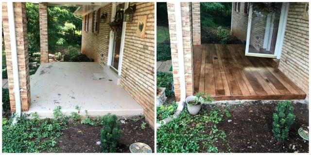 Kansas City, KS - Refurbish that old disgusting concrete porch with a look like never before! Concrete Wood is perfect to give you that wood look without the worries!