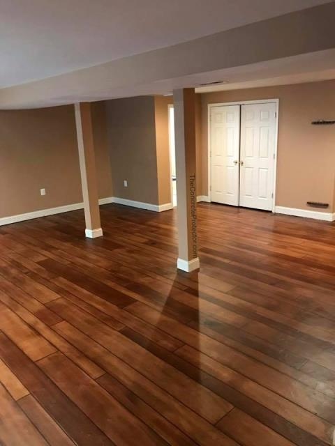 Basehor, KS - Transform your basement into a remarkable area that your guest and family will love with our Concrete Wood system!! For more information, give us a call!!