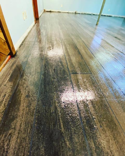 Kansas City, KS - It amazes me how much this Concrete Wood floor looks identical to real wood! I can't stop staring at it! I'm honestly amazed at the craftsmanship of this crew! If you're looking to add a bit of decoration to your floors, I suggest getting in contact with Lucas!!
