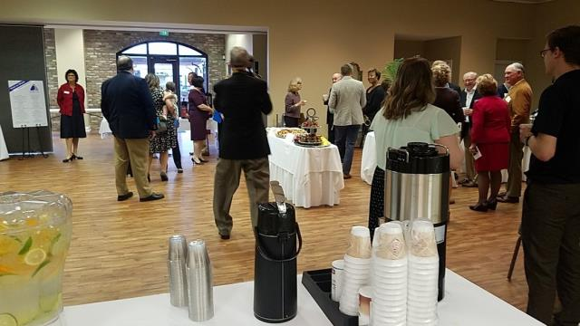 Providing coffee for the Montgomery Area Chamber at the Montgomery Area Council on Aging