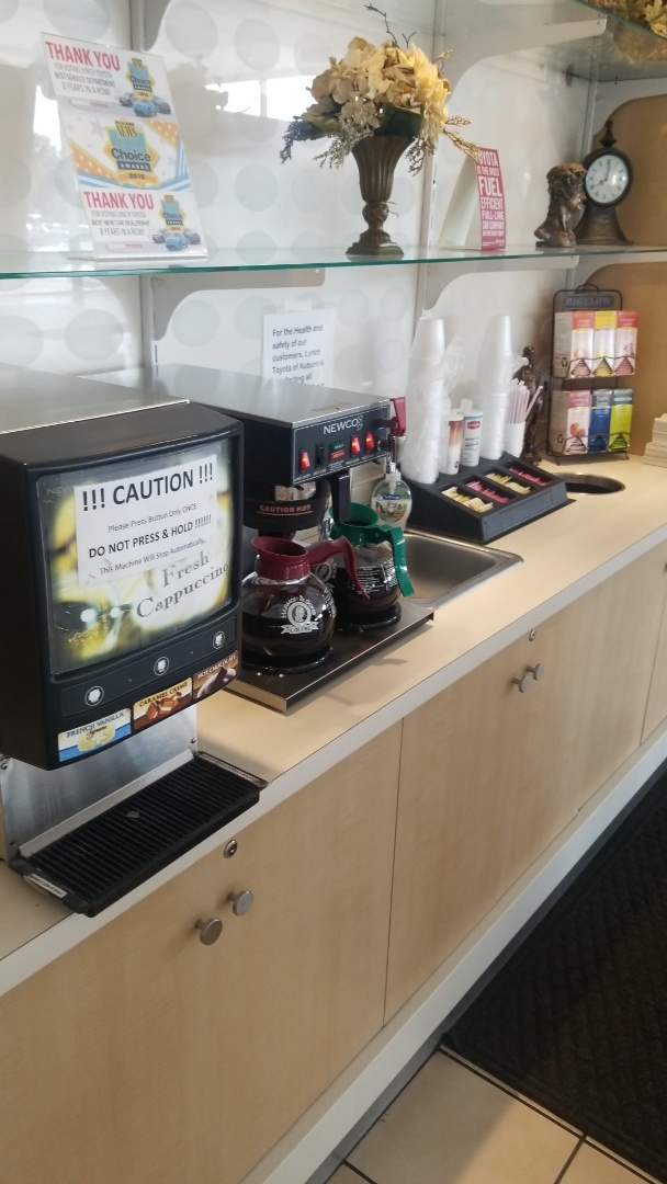 Providing a great coffee service at Lynch Toyota!