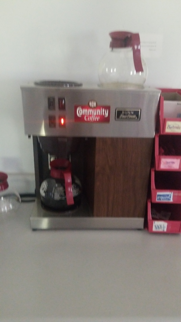 Providing great quality coffee service at Montgomery Family Medicine!