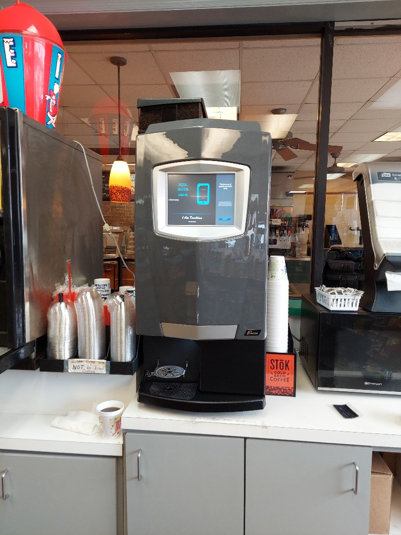 Installing Bean to Cup machine at Headley's Texaco