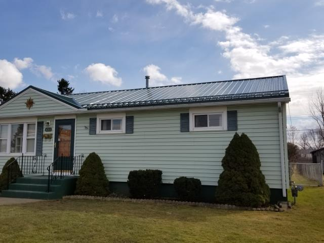Buffalo, NY - Installed new painted metal roof in Blasdell