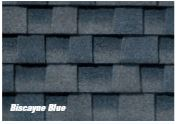 Depew, NY - We just finished installing these Biscayne Blue GAF Timberline HDZ shingles on a house garage and shed in Depew. This lovely shade of blue is a true eye-catcher!
