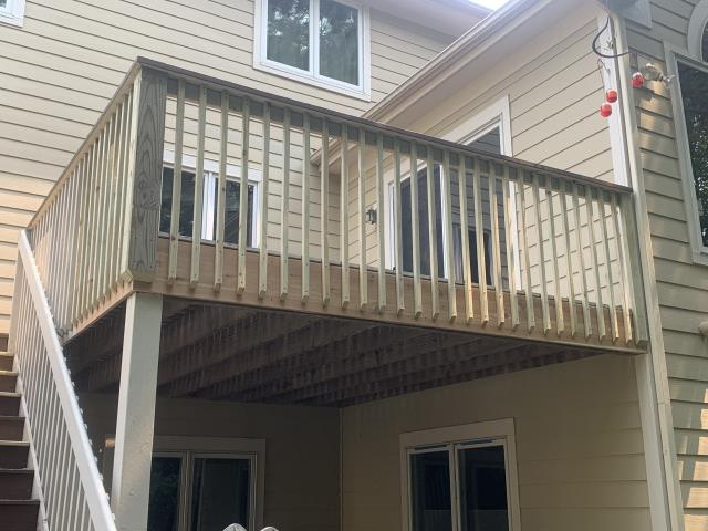 Woodbury, MN - Cedar decking repairs.  Will be painting shortly to make this deck shine!