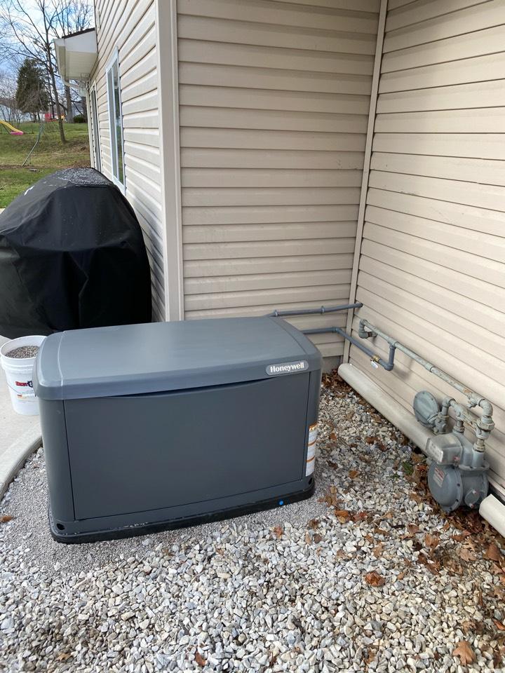 Install Honeywell generator.