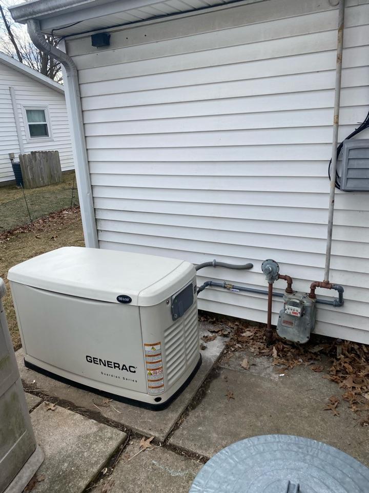 Grabill, IN - Install Generac generator.