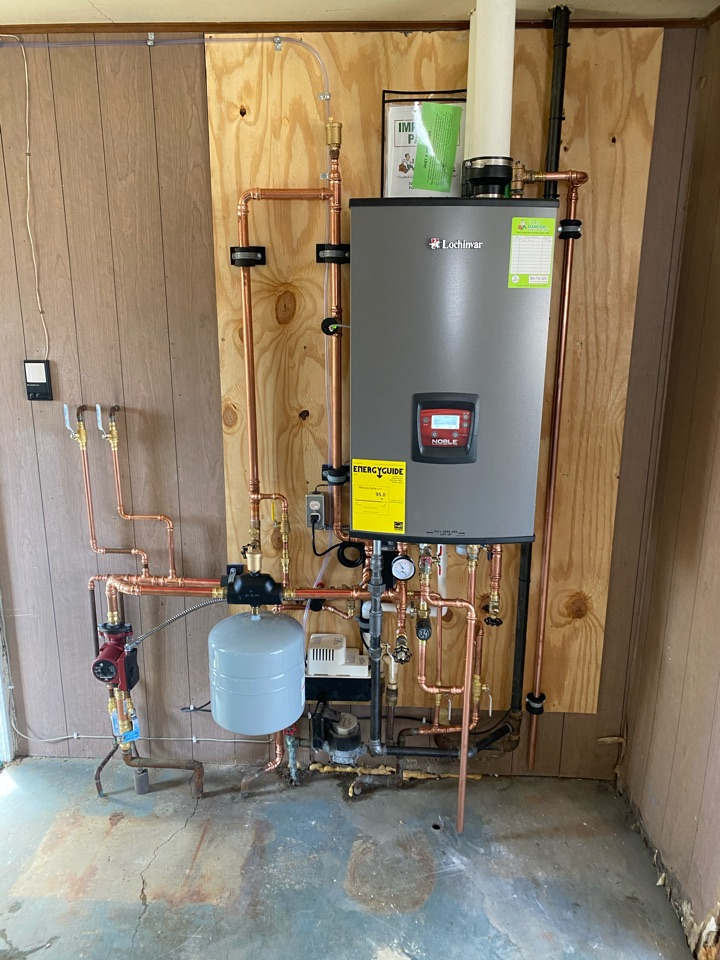 Fort Wayne, IN - Install Lochinvar Noble Combi Boiler.