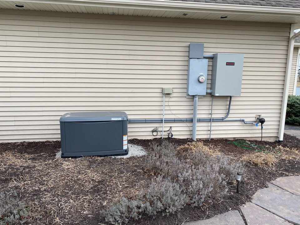 Woodburn, IN - Install Honeywell 24kw generator.