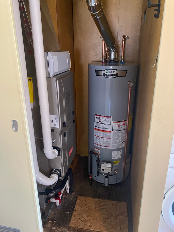 Install Bryant furnace and air conditioning.