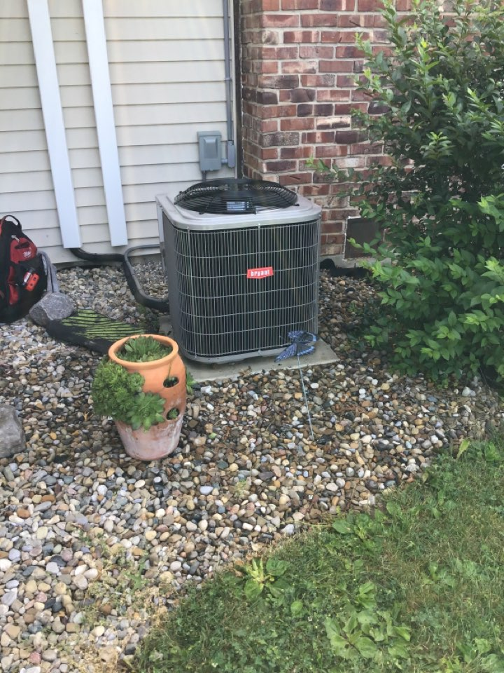 Spring and fall 21' check and service a/c and furnace units.