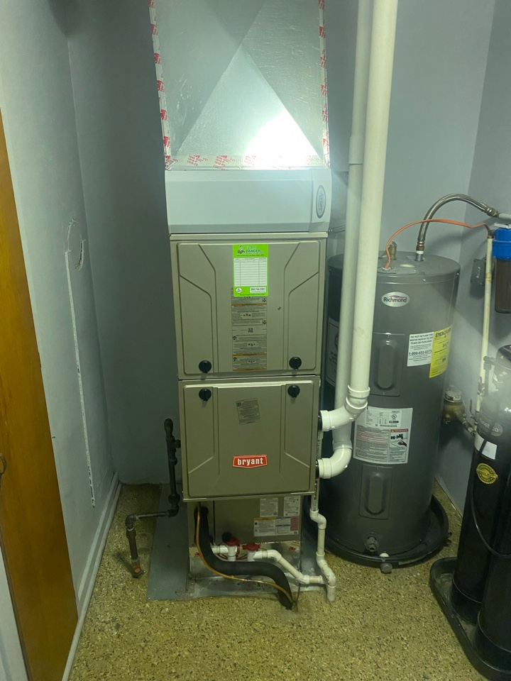 Install Bryant furnace and air conditioner.
