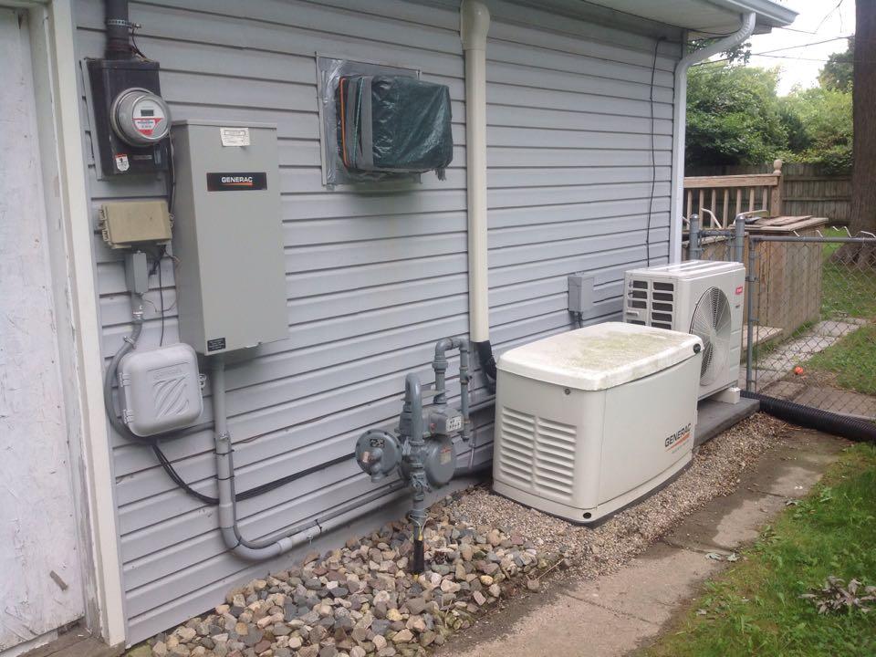 Check and service generator and mini split unit