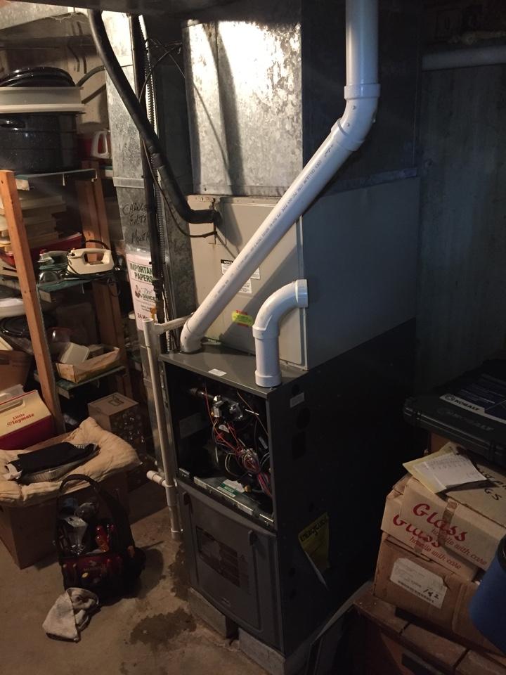 Monroe, IN - Furnace repair. Rheem