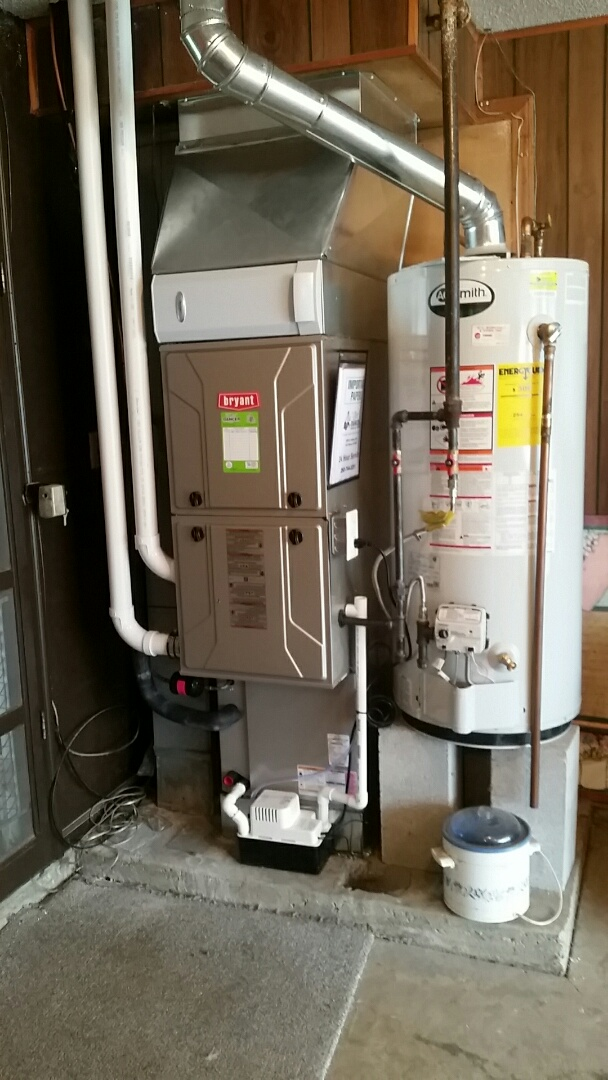 New Haven, IN - Installation of a Bryant 60000 BTU furnace and 3 ton air conditioner
