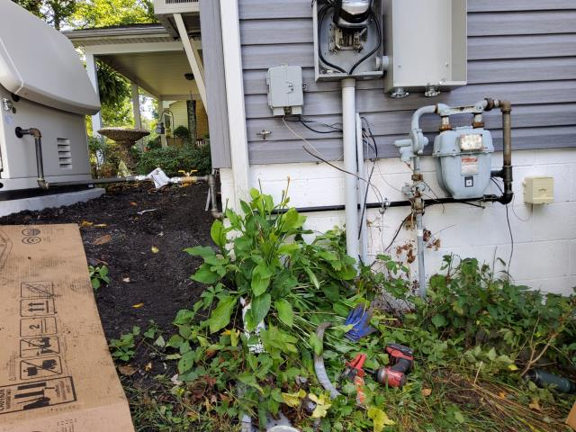 DuBois, PA - Installation of a gas line for a whole house generator