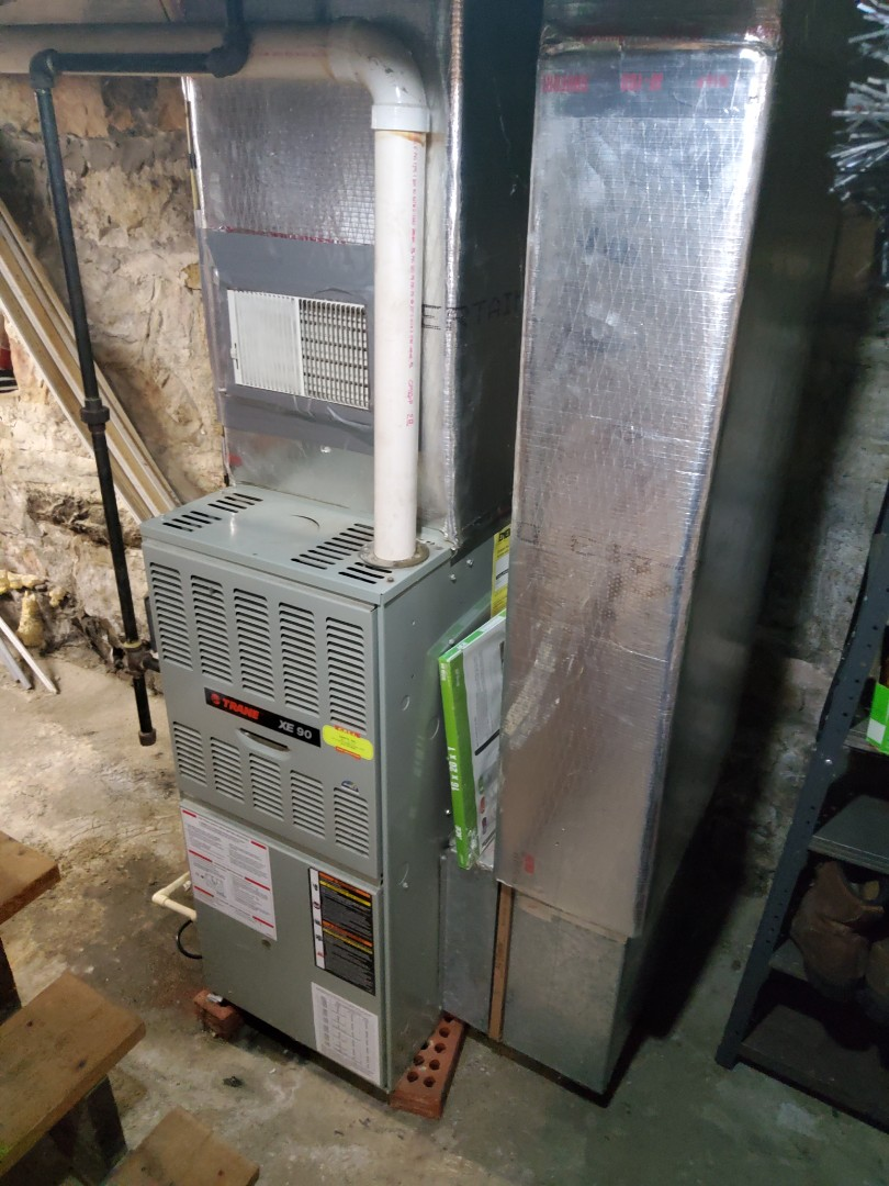 Ridgway, PA - Clean and service Trane furnace. Replace condensation pump.