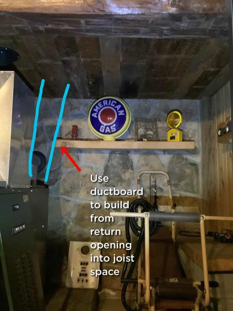 Woodland, PA - Furnace Repair and Installation of Return Ducting