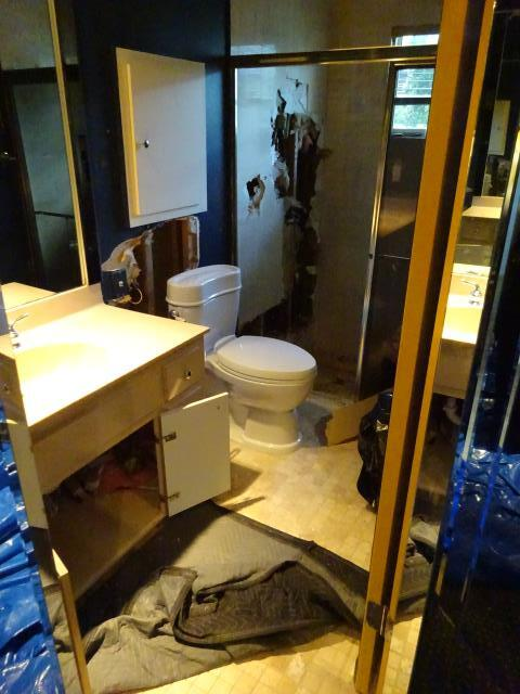Hollywood, FL - Water Damage occurred in this home from a water supply line with the Master Bedroom wall.