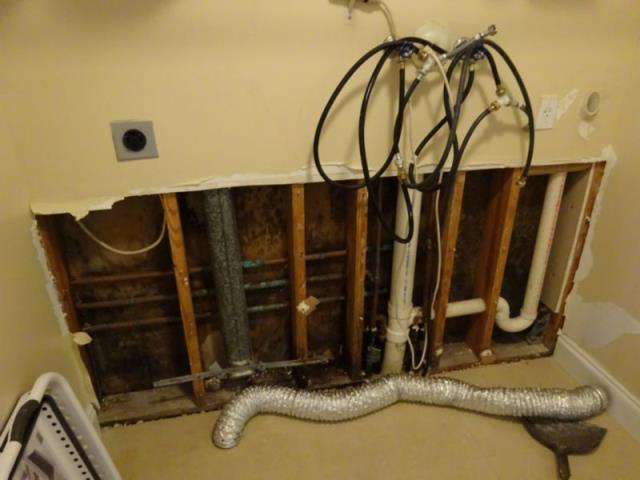 Miramar, FL - This homeowner came home to discover that the entire first floor of his home was inundated with water from a Polybutylene water supply line. This type of claim is always covered by the insurance company.