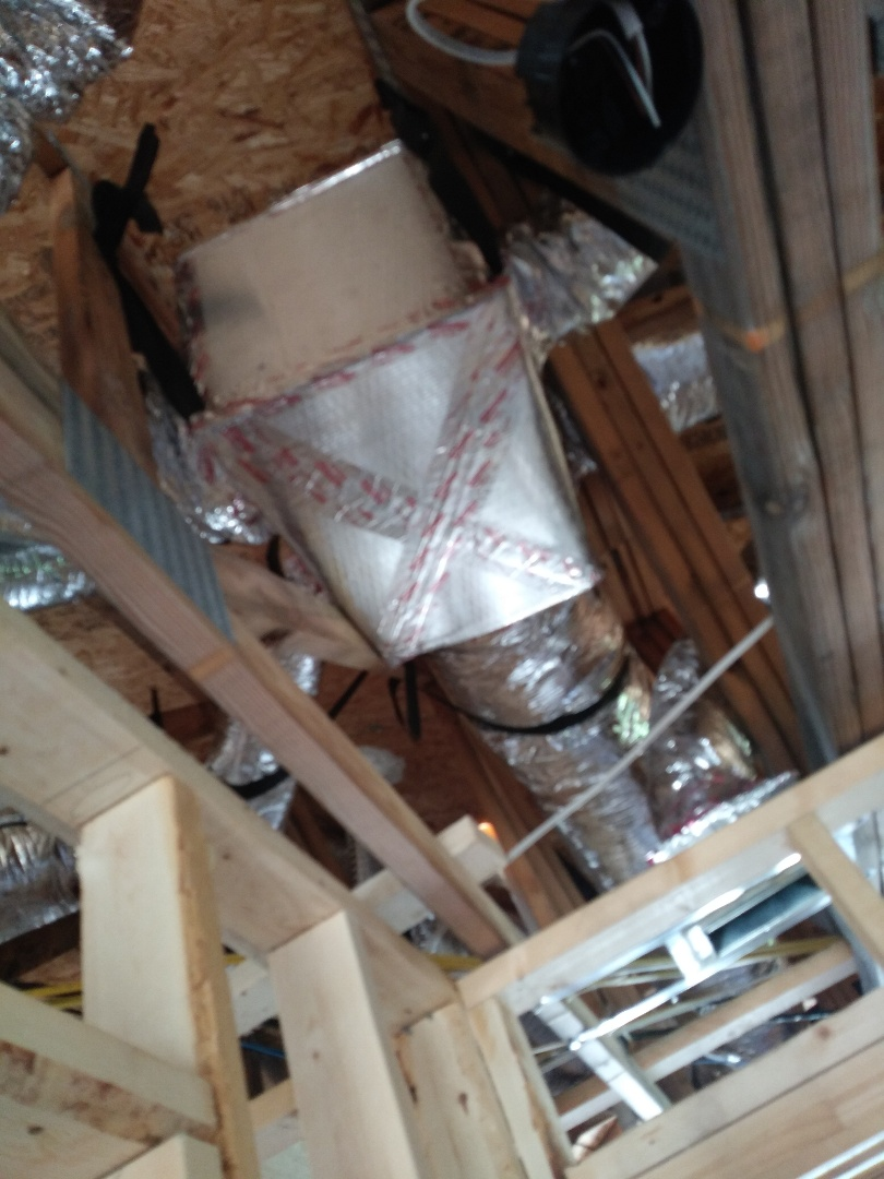 Rotonda West, FL - Finished another new duct install in a new Capitol Home in Rotonda West, FL.