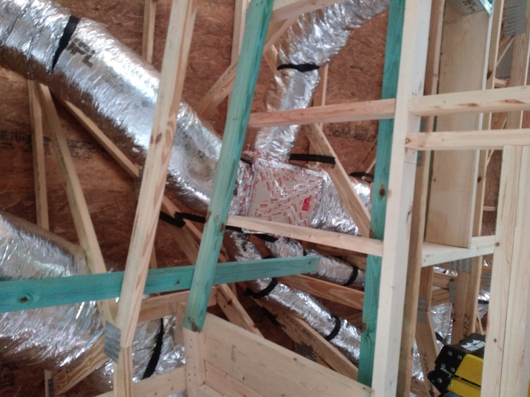 North Port, FL - Finished another new duct install inside a beautiful new home, built by Walker, in North Port