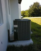 North Port, FL - Finished installing a high efficiency Amana condensing unit for Dmdeam builders