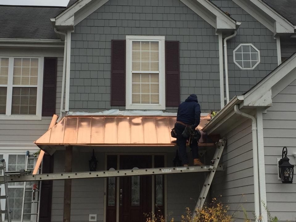 Aurora, IL - Copper Standing Seam Roof being installed!! Aurora, IL