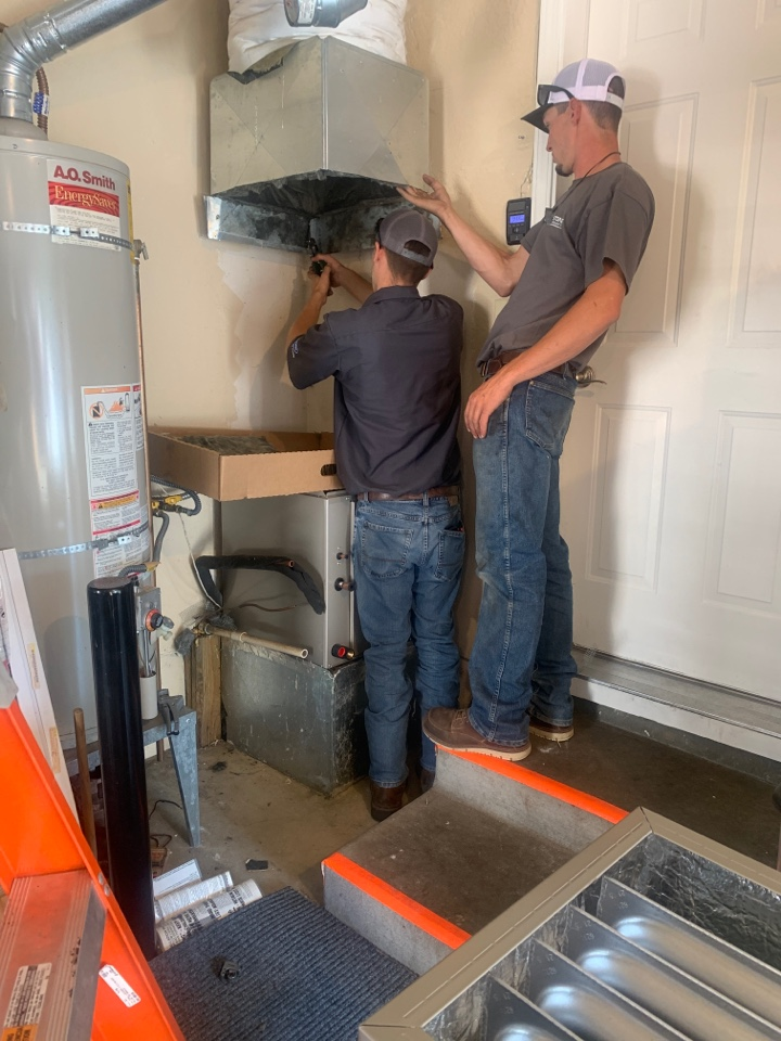 Medford, OR - Changing out an 80% gas furnace with new Carrier Performance 95% furnace with a new 13 SEER air conditioner. New system will save homeowners money and be quieter as well! Having to do some ductwork modifications to accommodate the new system.