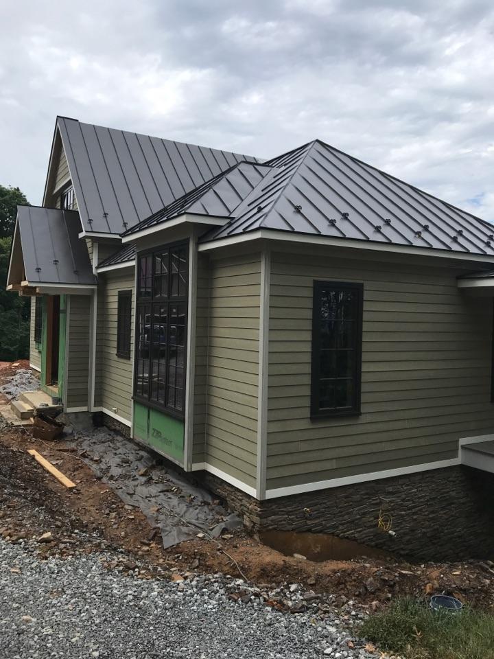 Hot Springs, VA - New construction standing seam job