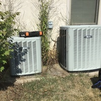 Galena, OH - Summer Season Tune-Up and Safety Checkout performed on Trane Air Conditioning Systems. NEST Thermostat hard wired.