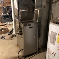 Galena, OH - Payne furnace exhaust motor struggling to start up and over heating. Capacitor reading found to be low and motor bearings starting to squeak and hum. Options given to replace the motor or furnace.