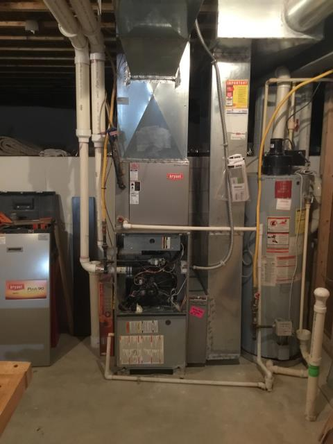Powell, OH - Installing New 	 Carrier Gas Furnace 96% Variable Speed Two-Stage 100,000 BTU & New Carrier Air Conditioner up to 16 SEER 3.5 Ton To Replace Existing Bryant Gas Furnace & AC System