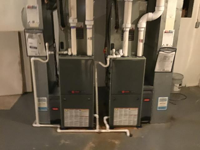 Powell, OH - Performed Our Special Tune-Up & Safety Checkout On Trane Gas Furnaces To Keep Furnace Running Efficiently For The Winter Season