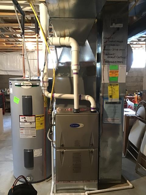 Reynoldsburg, OH - Tuneup and safety check on Carrier furnace. All of the equipment is working properly.