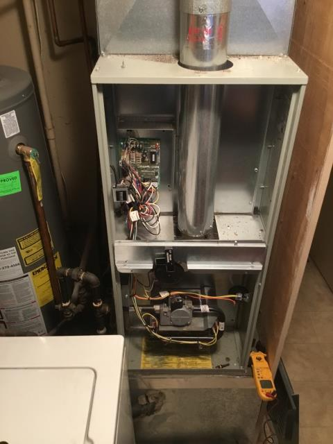Reynoldsburg, OH - Pulled and cleaned flame sensor on an American Standard furnace during tuneup. The unit is running properly.