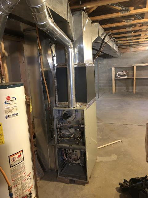 Pataskala, OH - Seasonal maintenance on Trane furnace. All checks out good at this time.