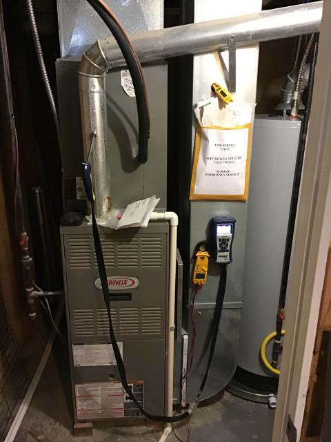 Lewis Center, OH - Wearing  mask and gloves and keep activity in the home to a minimum, I Performed Furnace tune-up on a Lennex system. System is now running a peak performance.