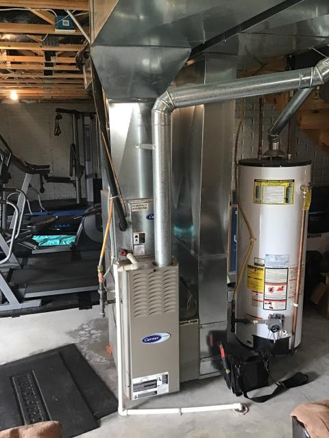 Pataskala, OH - Wearing mask and gloves and keep activity in the home to a minimum, I Performed Furnace tune-up on a 2019 Carrier system. System is now running a peak performance.