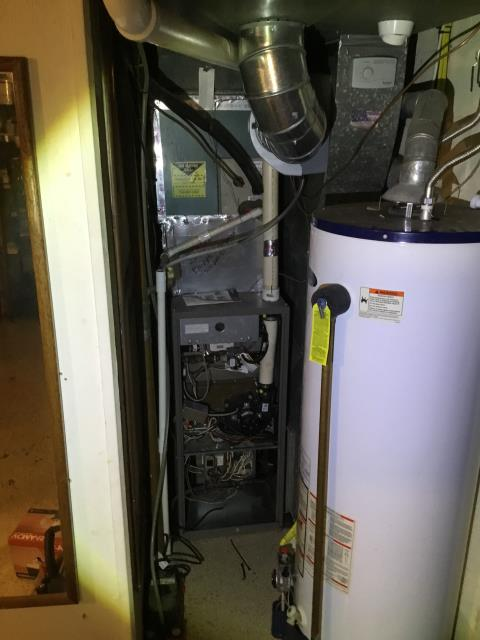 Granville, OH - Upon arrival I found a York furnace that needs the following replaced. Multi Tap Electrical Step-Down Transformer,  Direct Drive Blower Motor w/Capacitor, Main Circuit Control Board, and the  Condensate Pump.