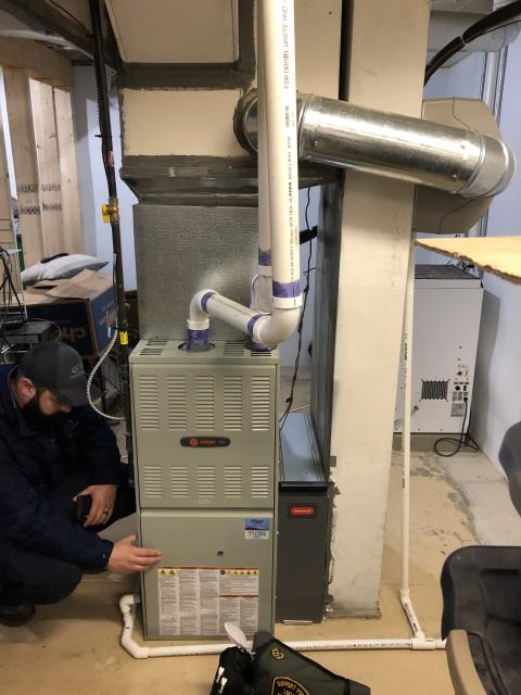 Blacklick, OH - I installed a new i Wave-R Air Purifier on to a Trane furnace.