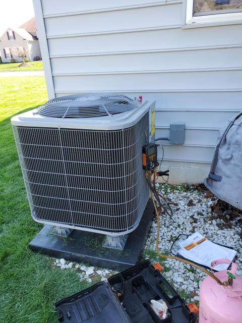 Reynoldsburg, OH - I installed a new Carrier 96% Two-Stage 60,000 BTU Gas Furnace and Carrier 16 SEER 2.5 Ton Air Conditioner